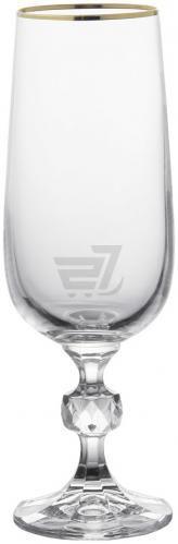 Набір бокалів для шампанського Claudia 180 мл 6 шт. 20733 Bohemia
