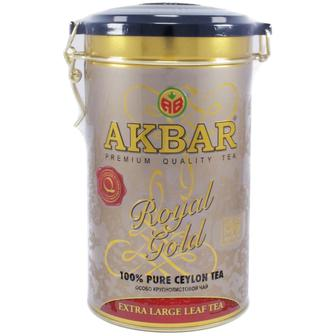 Скидка 30% ▷ ЧАЙ ЧЕРНЫЙ AKBAR ROYAL GOLD 150г