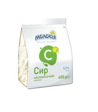 Сир Кисломолочний 0.2% Молокія 400г