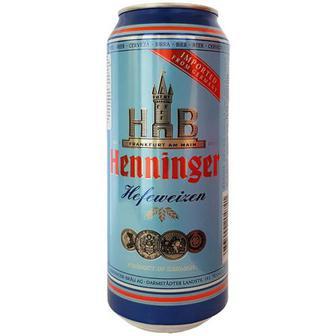 Пиво Henninger Hefeweizen пшеничне 0,5л
