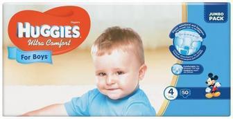Подгузники Huggies Ultra Comfort Jumbo р.4 (8-14 кг) для мальчиков 50 шт
