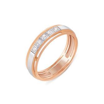 Обручальное кольцо с бриллиантами. Артикул 1013/2,25