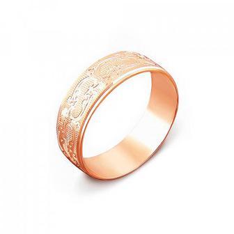 Обручальное кольцо с алмазной гранью. Артикул 1070/18