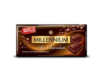 Шоколад Millennium Premium пористий чорний, 90г