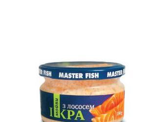 Икра мойвы с лососем Мастер Фиш 180 г