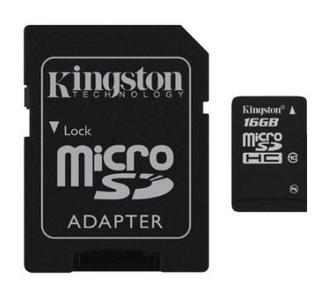 Карта памяти Kingston 16 GB microSDHC class 4 + SD Adapter SDC4/16GB