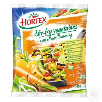 Овочі для смаження або овочі для смаження  По-східному   Hortex 400 г