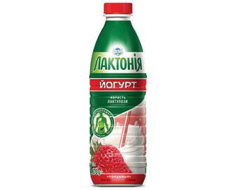 Йогурт «Лактонія» з лактулозою полуниця 1,5% жиру, 870г
