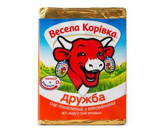 Сир плавлений «Весела корівка» «Дружба» 46% жиру, 90г