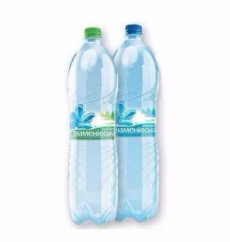 Вода мінеральна газована або негазована Знаменівська 2л