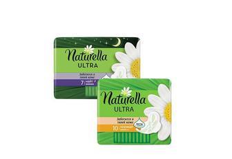 Прокладки гігієнічні Ultra Camomile Night, 7 шт. Ultra Camomile Normal, 10 шт. Naturella