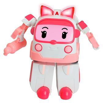Игрушка Эмбер трансформер с подсветкой Poli Robocar