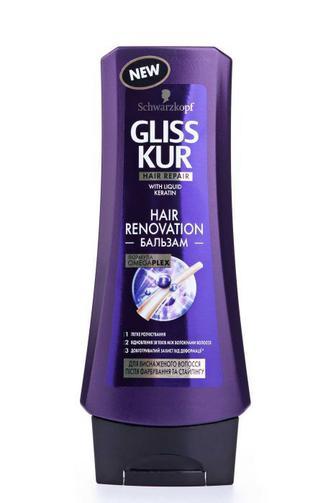 Скидка 25% ▷ Бальзам Gliss Kur для истощенных волос после окрашивания и стайлинга Hair Renovation, 200 мл