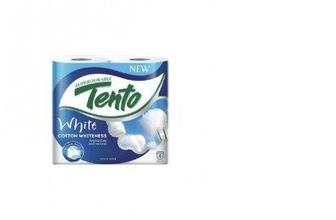 Туалетная бумага COTTON WHITE, TENTO, 4шт