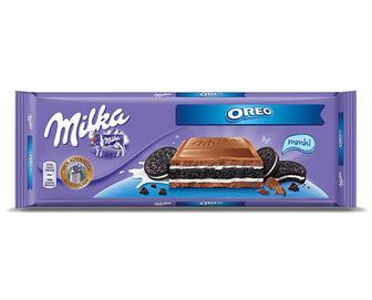 Шоколад молочний зі шматочками печива Орео, Milka, 100 г