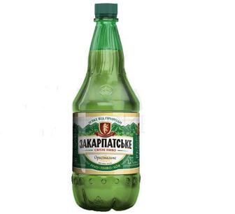 Пиво світле Закарпатське, 4,4%, 1,2 л ППБ