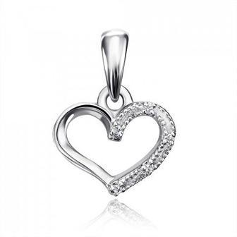 Золотая подвеска «Сердце» с бриллиантами. Артикул 53912/0.8б