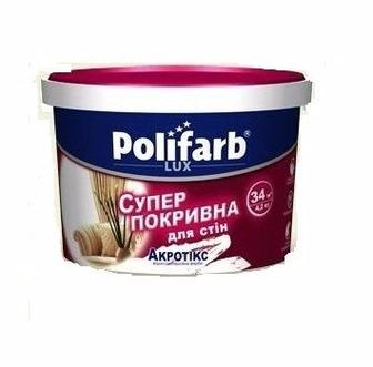 Акрилова фарба Polifarb водно-дисперсійна для стін та стелі 750 мл