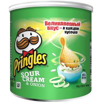 Чіпси Прінглз сметана та цибуля 40г