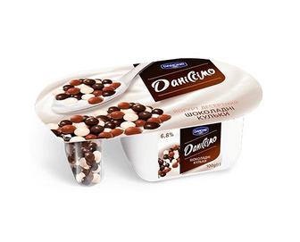 Йогурт «Даніссімо» «Фантазія» 6,8% жиру шоколадні кульки, 100г