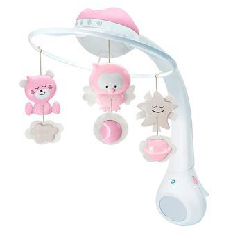 Музыкальный мобиль с проектором Infantino 3 в 1 розовый (004914I)