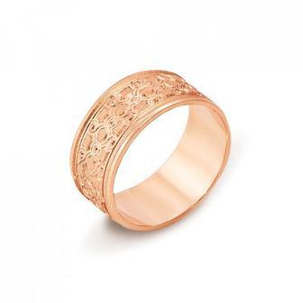 Обручальное кольцо с алмазной гранью. Артикул 10101/8