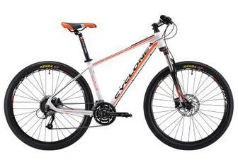 """Велосипед Cyclone 27,5 """"LLX-650b 15,5"""" біло-помаранчевий-матовий (18-018) 2018"""