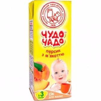 Сок персиковый с мякотью и сахаром для детей с 4 месяцев Чудо чадо 0,2л