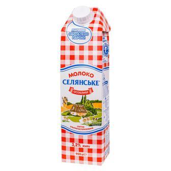Молоко 3,2% Особливе Селянське 950 г