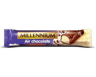 Шоколад білий Millennium пористий в молочному шоколаді, 32г