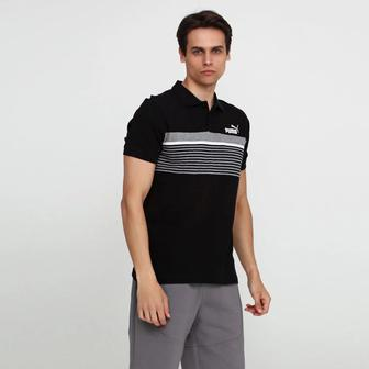 Поло Puma Essentials+ Stripe Polo чорна