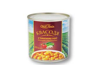 Квасоля у томатному соусi Своя Лінія 420 г