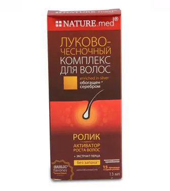 Ролик Nature.med. Цибулево-часниковий комплекс для волосся 13мл