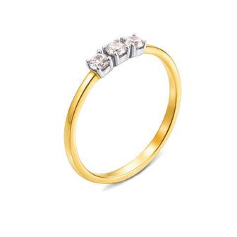 Золотое кольцо с фианитами. Артикул 13103/eu