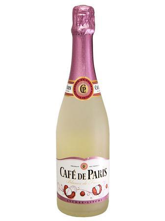 Скидка 21% ▷ Вино игристое Cafe de Paris Litchi 0.75 л