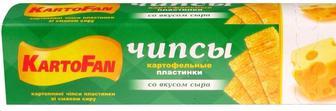 Чіпси зі смаком краба, смет. та зелені, сиру, волн.50г, KartoFUN