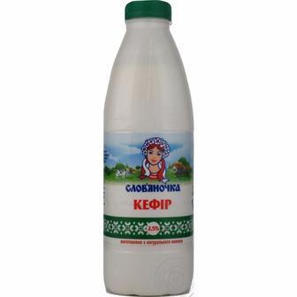 Кефiр 2,5% Слов'яночка 870 г