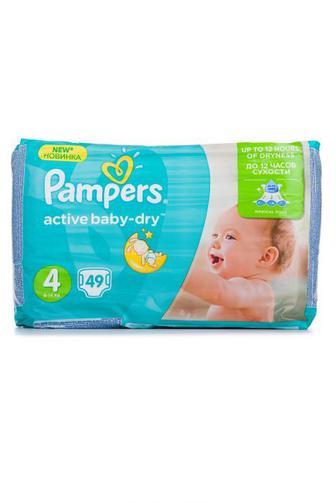 Подгузники PAMPERS Active Baby р4 8-14 кг 49шт Velio
