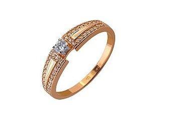 Золотое кольцо с бриллиантом Артикул 01-17445833