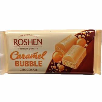 Шоколад пористий білий карамельний 85г