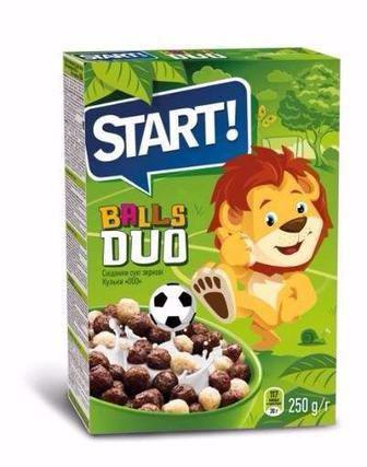 Сухий сніданок Старт Кульки дуо, какао 250г