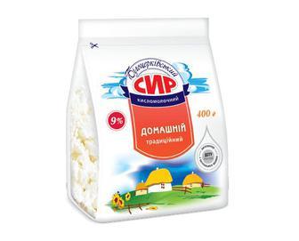 Сир кисломолочний «Білоцерківський» домашній традиційний, 9% жиру, 400г