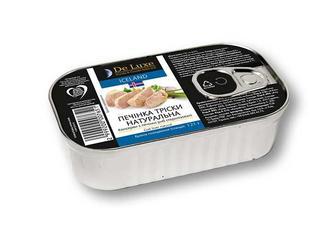 Консерви печiнка трiски De Luxe Foods & Goods Selected - 121 г