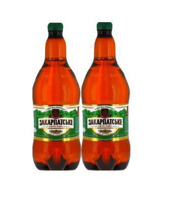 Пиво  Закарпатське, світле  Перша Приватна Броварня, 2 л