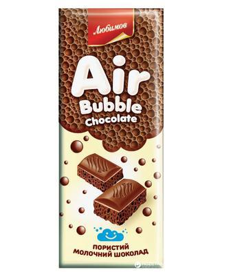Шоколад Любимов пористий молочний 65г