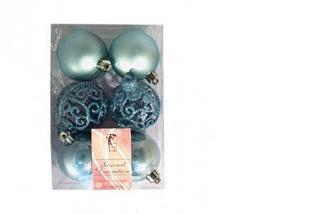 Набор новогодних шаров, 6шт*6 см, Одиссей
