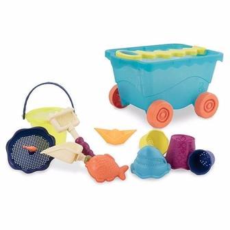 Набір для гри з піском та водою Візок море 11 предметів