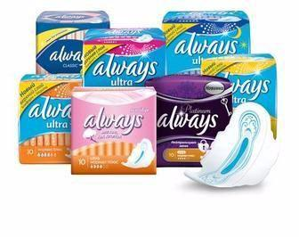Женские прокладки Always Platinum Always Ultra Always Ultra Sensitive та щоденні прокладки Discreet