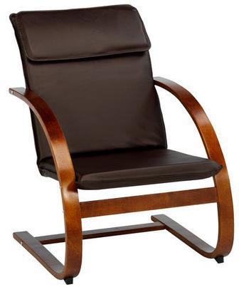 Крісло TUNE шт.шкіра коричневий