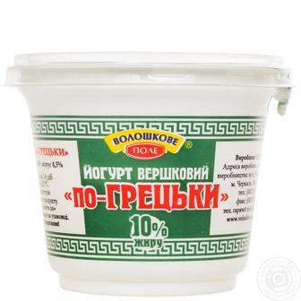 Акция ▷ Йогурт по - грецьки Волошкове Поле 10% 200г